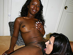 Sweet blackk girls caress yummy pussies ebony lesbian sex