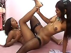 Lesbo whore licks all holes of babe ebony lesbian sex
